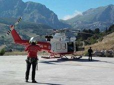 Evacúan en helicóptero a un motorista herido en Camaleño