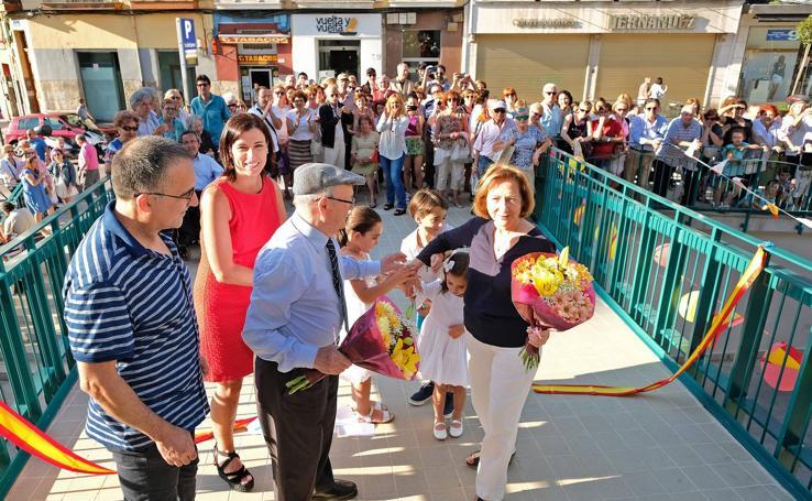 Inauguración de la pasarela del Mercado de la Esperanza