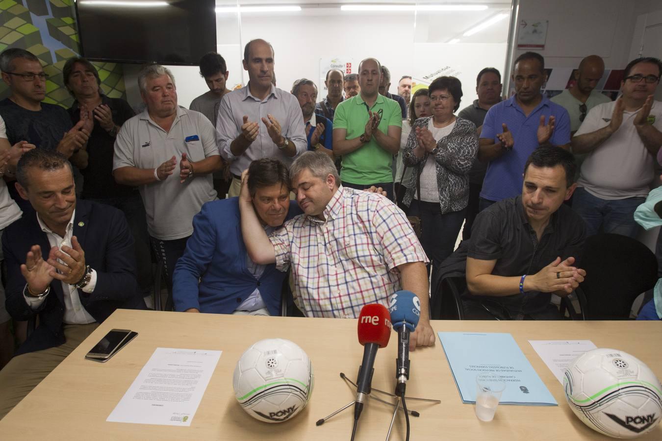 El fútbol cántabro condena los actos vandálicos contra su presidente