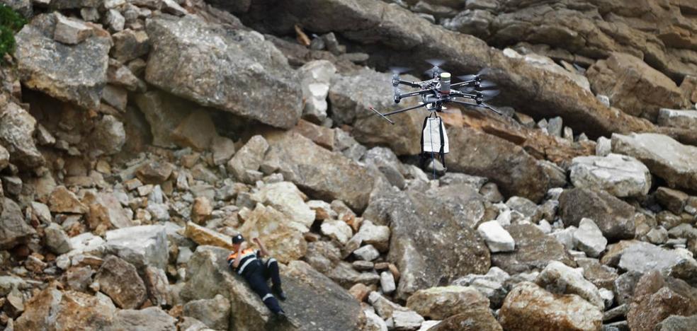 Un dron al rescate
