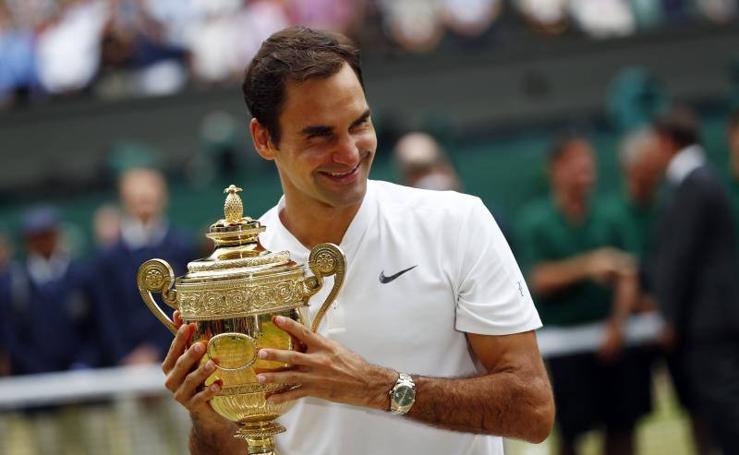 Las mejores imágenes de la victoria de Federer en Wimbledon