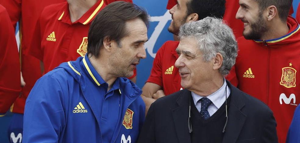 Lopetegui: «El trato que nos ha dado Villar ha sido exquisito»