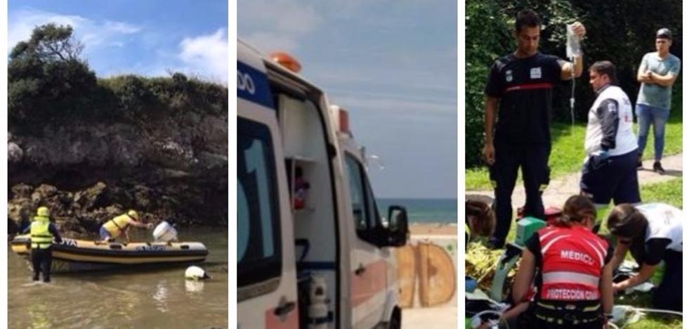 Día negro en zonas de baño de Cantabria con tres muertes y una niña grave
