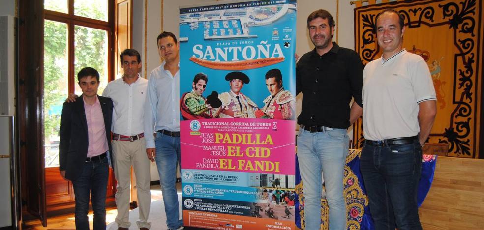 El Cid, El Fandi y Padilla torearán en la corrida de la Virgen de Puerto