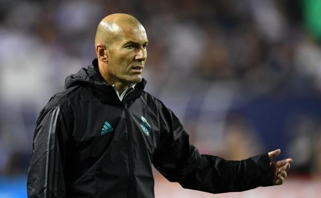 Zidane, durante el último partido de la gira del Real Madrid por EE UU. /Mike DiNovo-USA TODAY Sports