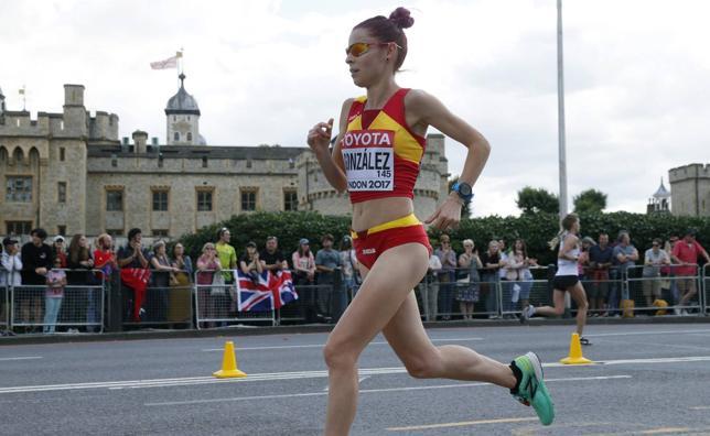 Paula González acaba en puesto 46º la maratón del Mundial