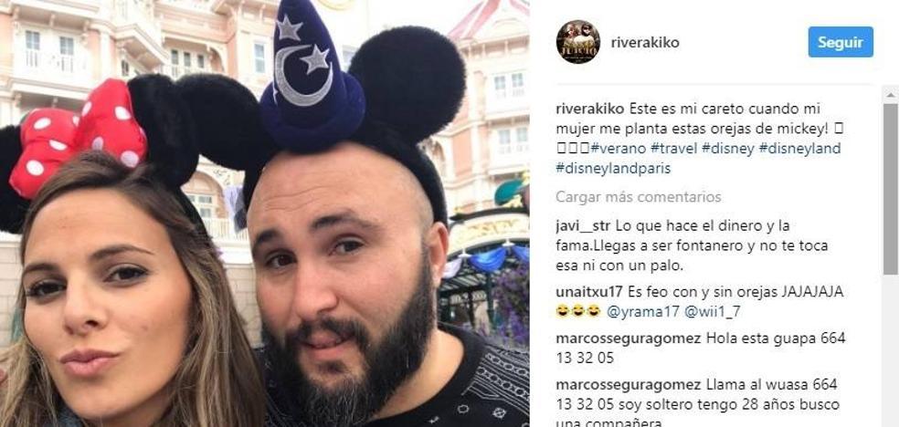 Kiko Rivera, feliz estrenando su banda gástrica en Disneyland Paris