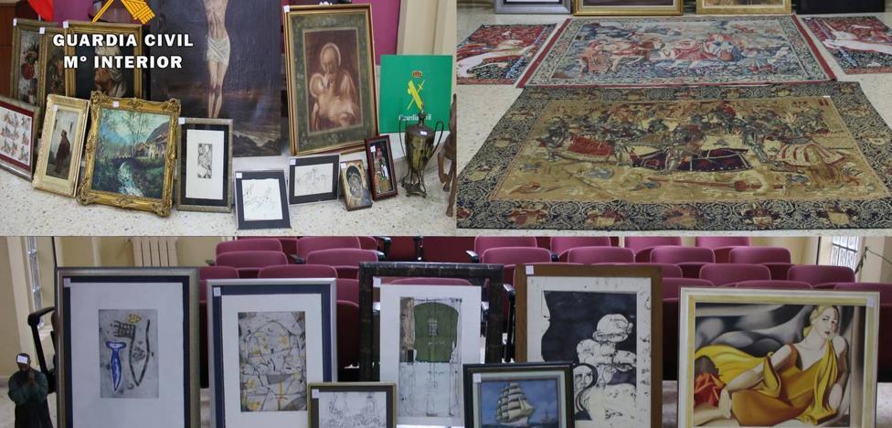 Ladrones de arte roban valiosos tapices y óleos en viviendas de San Vicente y Hoz de Anero
