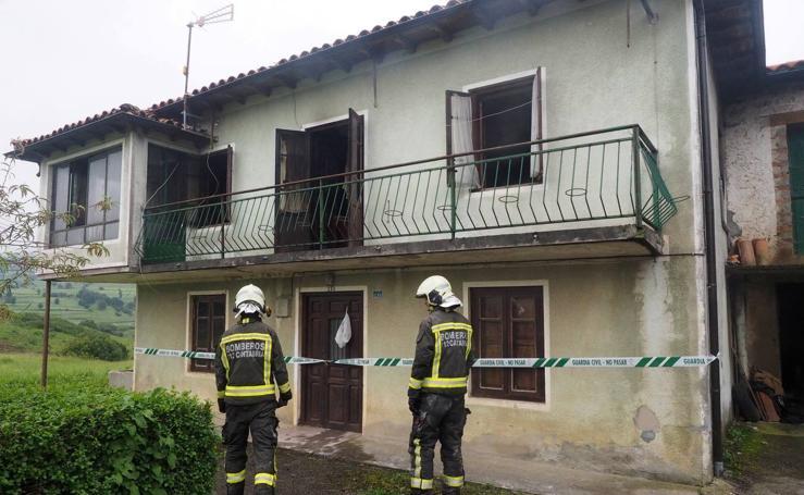 Muere un anciano en el incendio de su casa en Villacarriedo