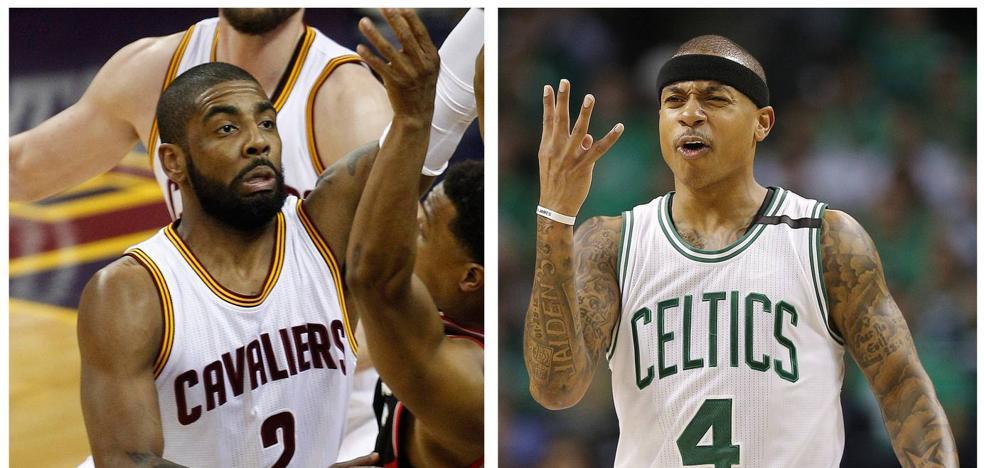 Cavaliers y Celtics intercambian a sus bases