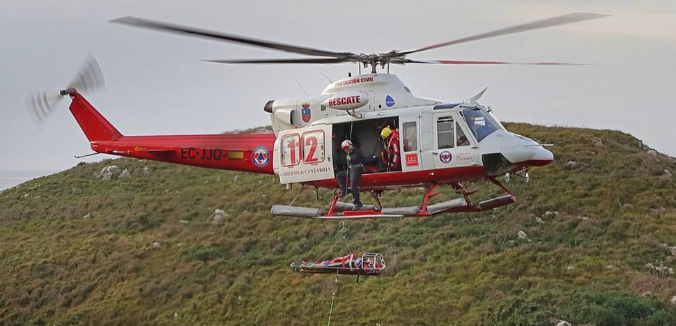 Así fue el rescate en los acantilados de Pechón