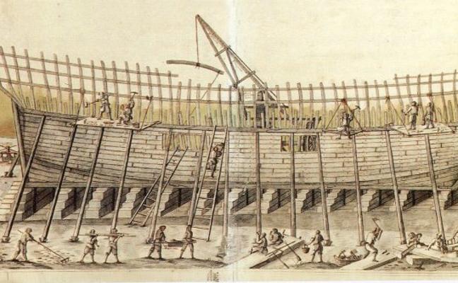 Los carpinteros de los astilleros de Guarnizo