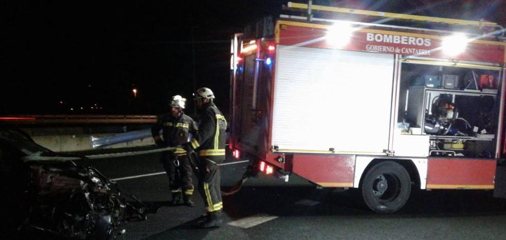 Una mujer resulta herida en un accidente en la A-8 a la altura de Colindres
