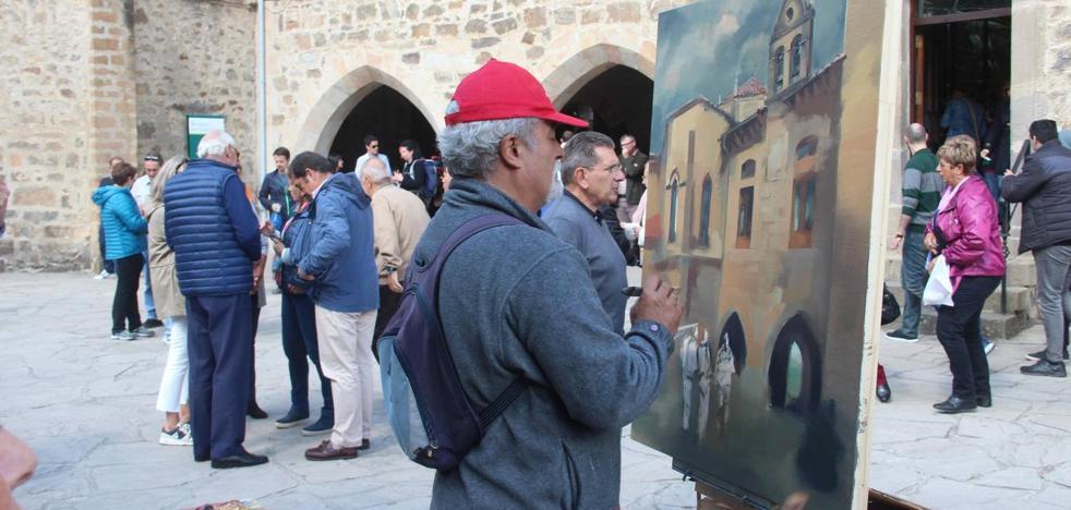 El vallisoletano Isidoro Moreno ganador del concurso de pintura rápida Año Jubilar Lebaniego