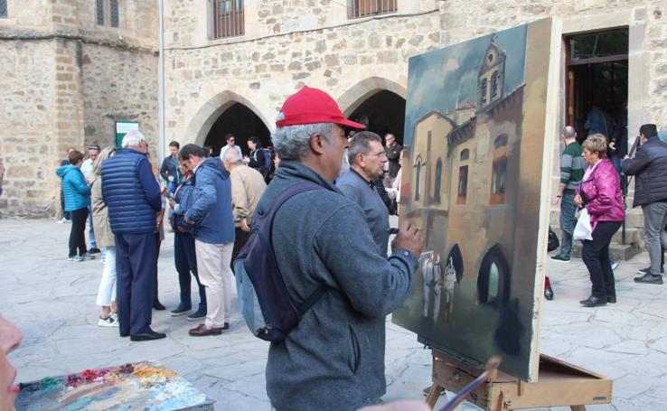 Los artistas retratan la Puerta del Perdón