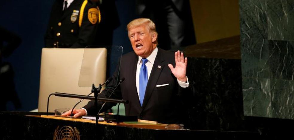 Trump «destruirá totalmente» a Corea del Norte si siguen las amenazas
