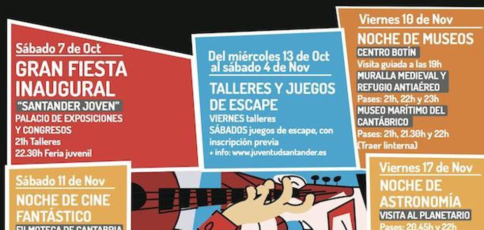 Más de un centenar de actividades en la 'Noche es Joven' de Santander