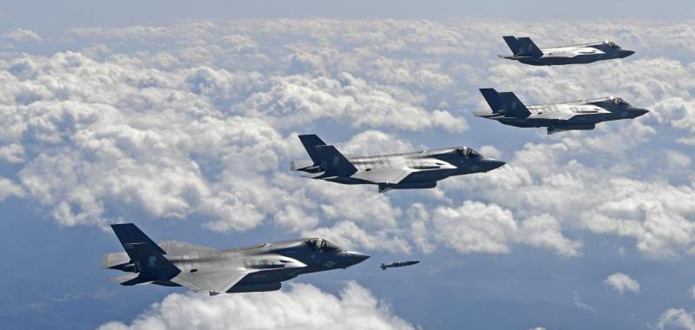 EE UU envía bombarderos cerca de la costa de Corea del Norte para exhibir fuerza
