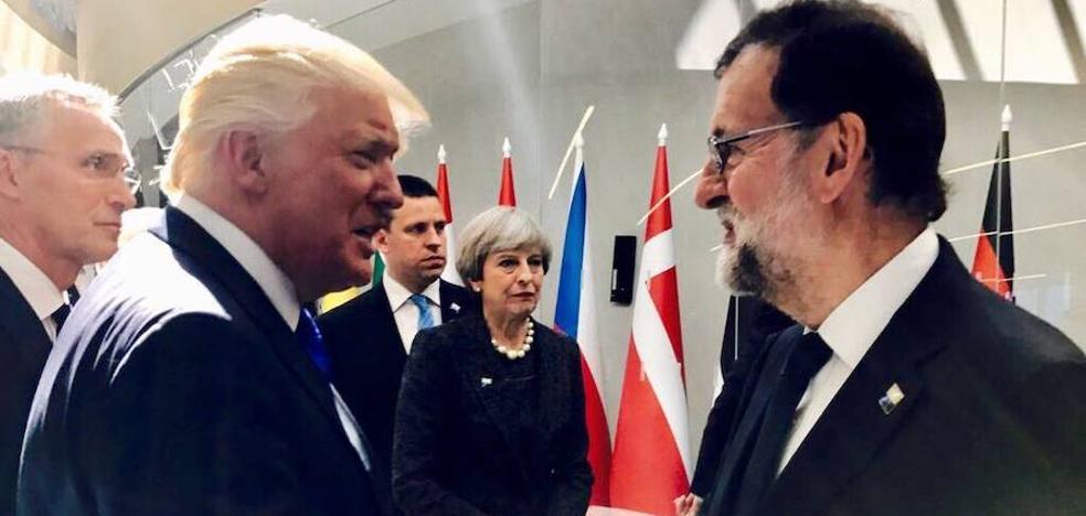 Rajoy busca un guiño de Trump frente al 1-O