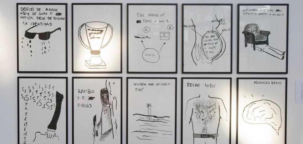 Ocho artistas 'dibujan la tormenta' en la Biblioteca Central