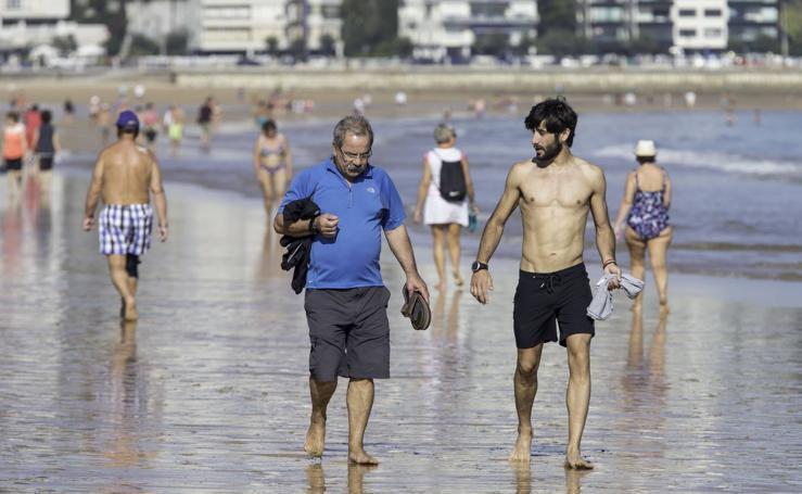 Disfrutando del sol y el calor de octubre en Santander