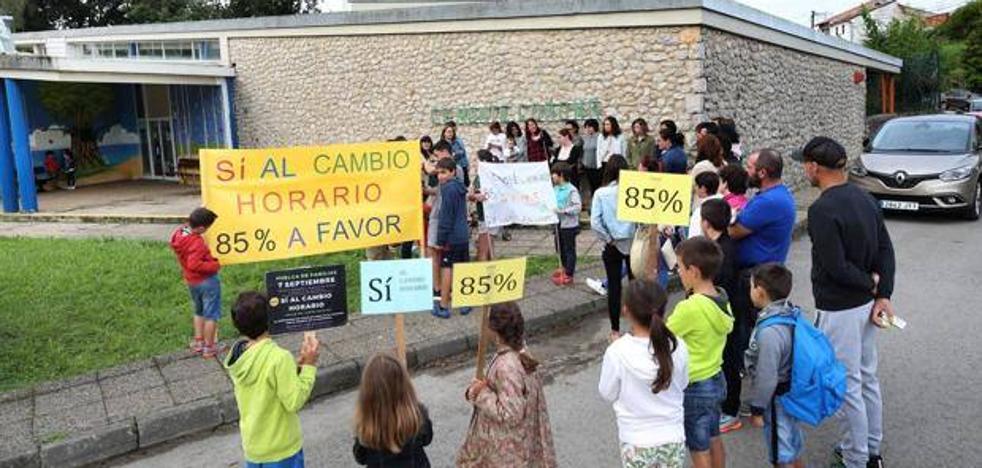 Los padres del colegio de Udías rechazan la propuesta horaria de Educación