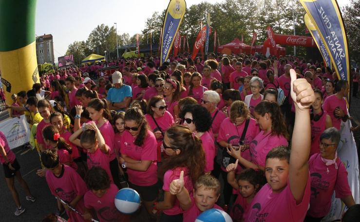 Marea rosa contra el cáncer de mama