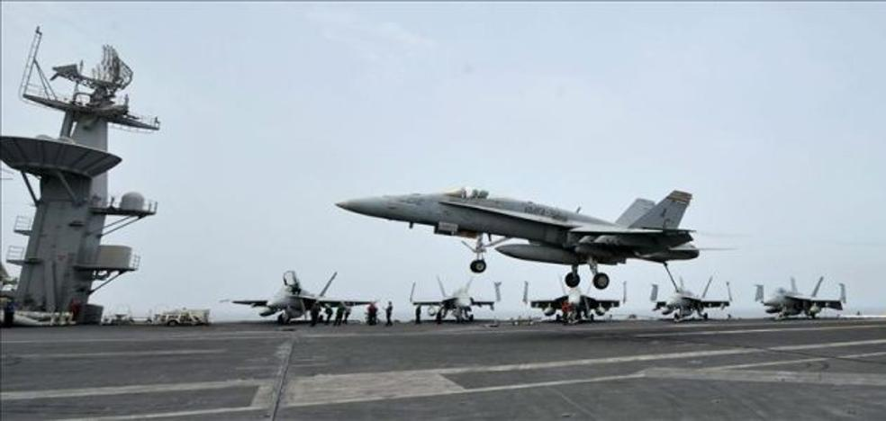 Nueve aviones F-18 se han estrellado en los últimos treinta años en España