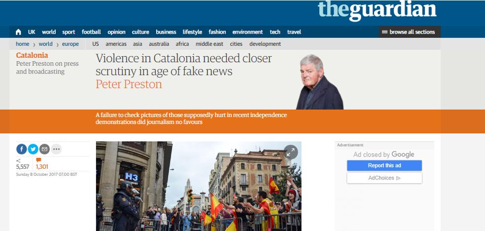 Las mentiras del 1-O, según The Guardian