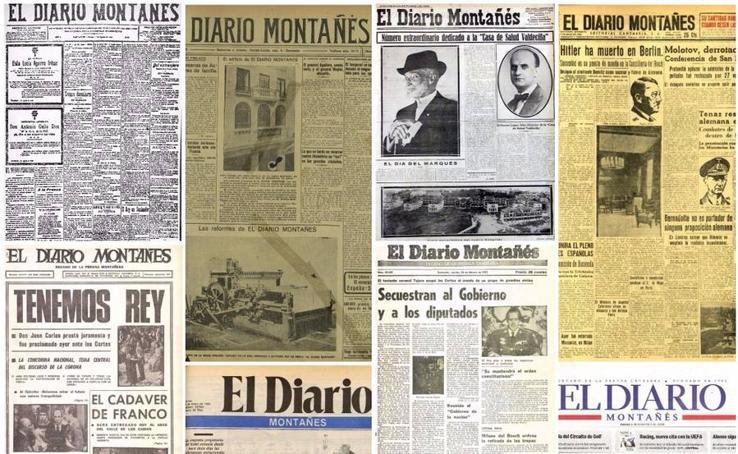 Las portadas de los 115 años de historia de El Diario
