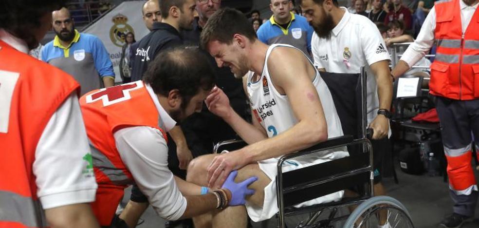 Kuzmic tiene roto el ligamento cruzado