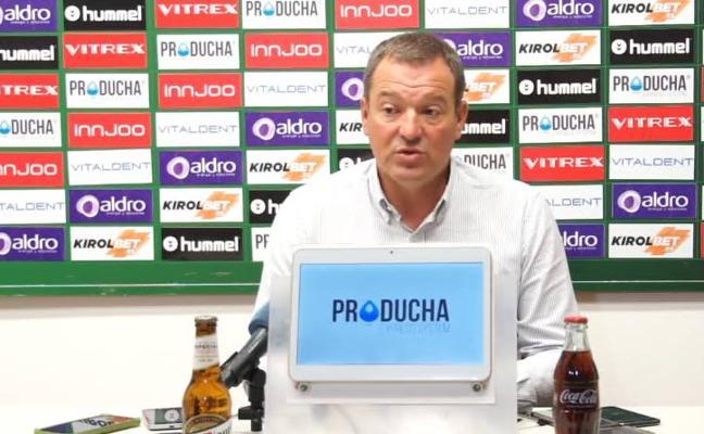 Ángel Viadero confía en que las lesiones respeten al equipo de cara al encuentro frente al Baracaldo