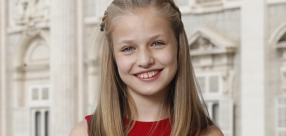 La Princesa Leonor estrena retrato oficial por su 12 cumpleaños