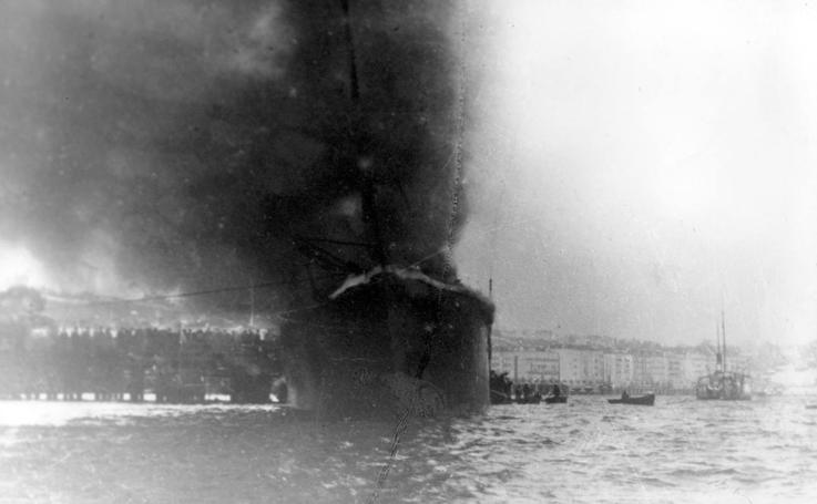 La explosión del 'Cabo Machichaco'