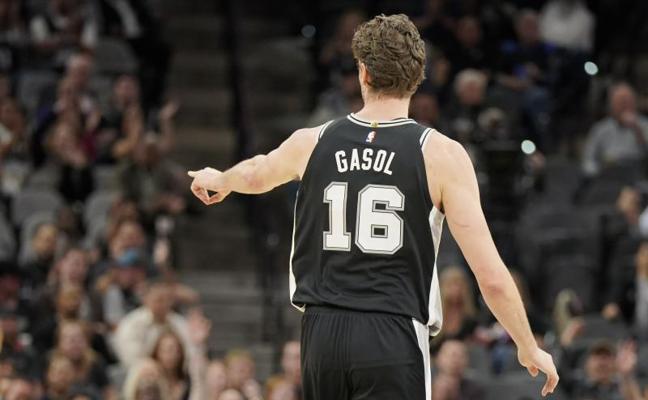 Pau Gasol y Rubio muestran su liderazgo en los triunfos de Spurs y Jazz