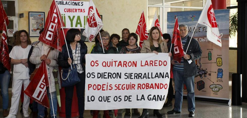 Los trabajadores de la limpieza del Hospital Sierrallana inician una semana de movilizaciones