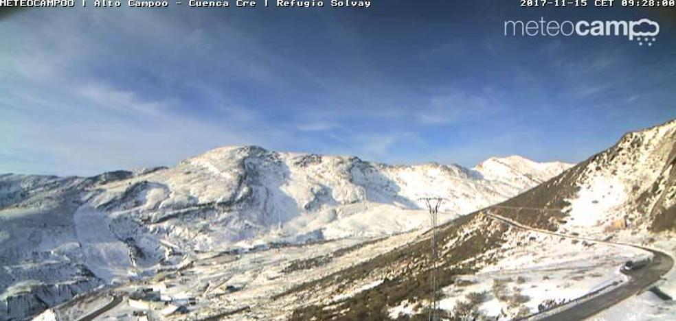 Alto Campoo pierde la nieve por culpa de la inversión térmica