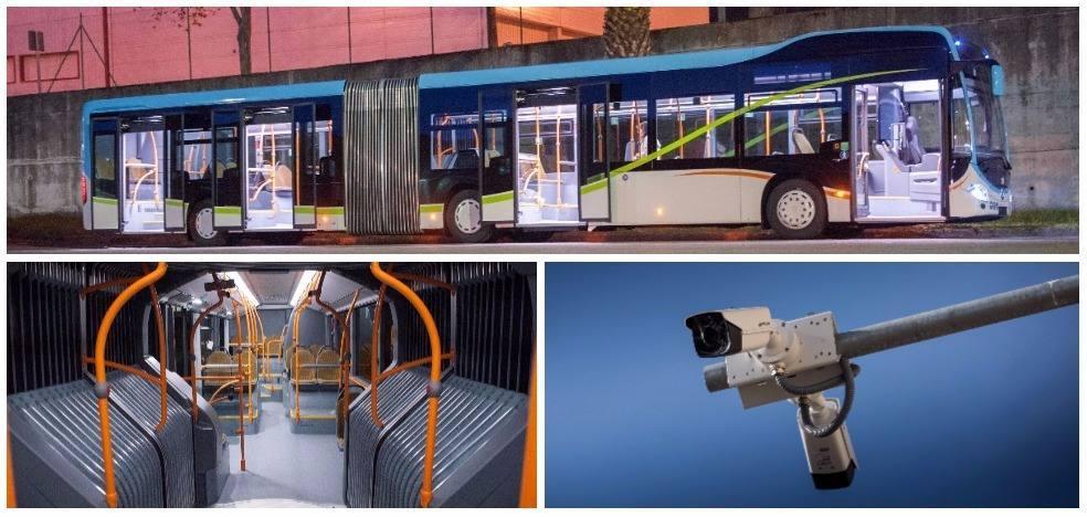 Las 41 cámaras que vigilarán el carril del Metro-TUS ya destacan en las aceras