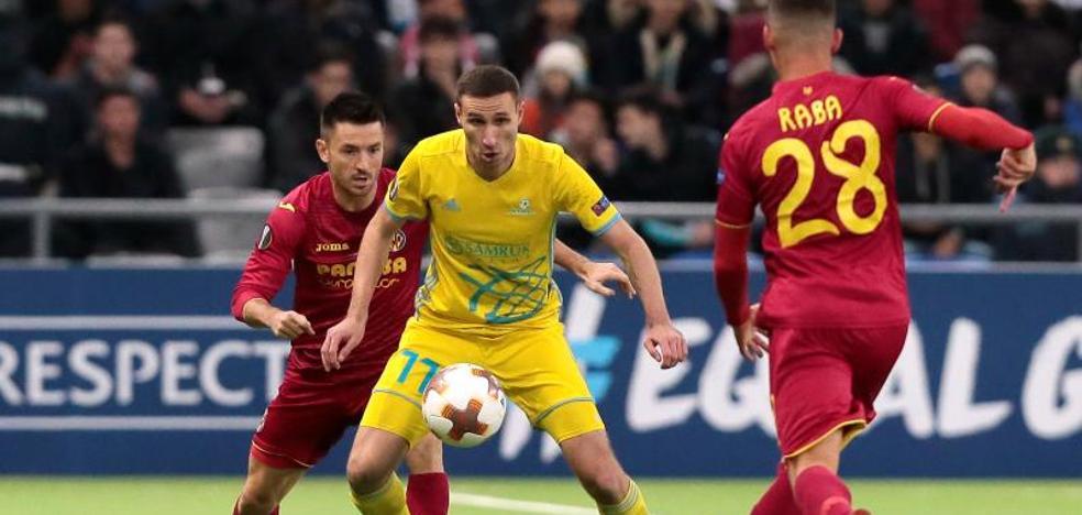 El Villarreal cierra su pase en Astana a lo grande