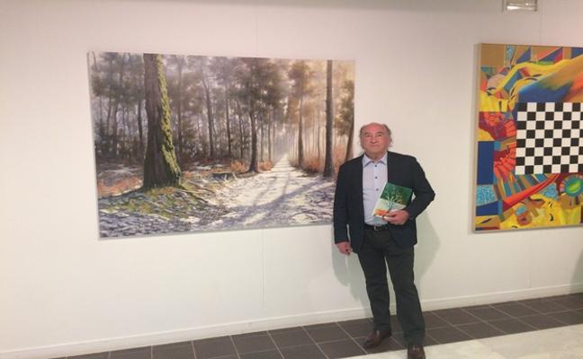 El pintor lebaniego Joaquín Besoy, premiado en dos certámenes de pintura en Madrid