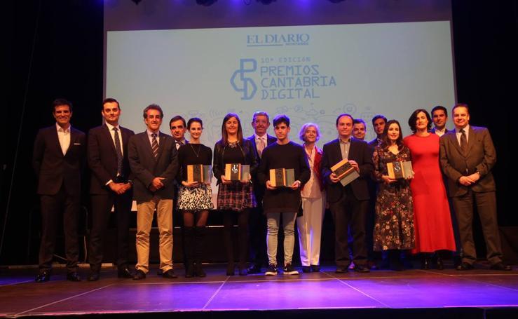 Galardonados en los Premios Cantabria Digital