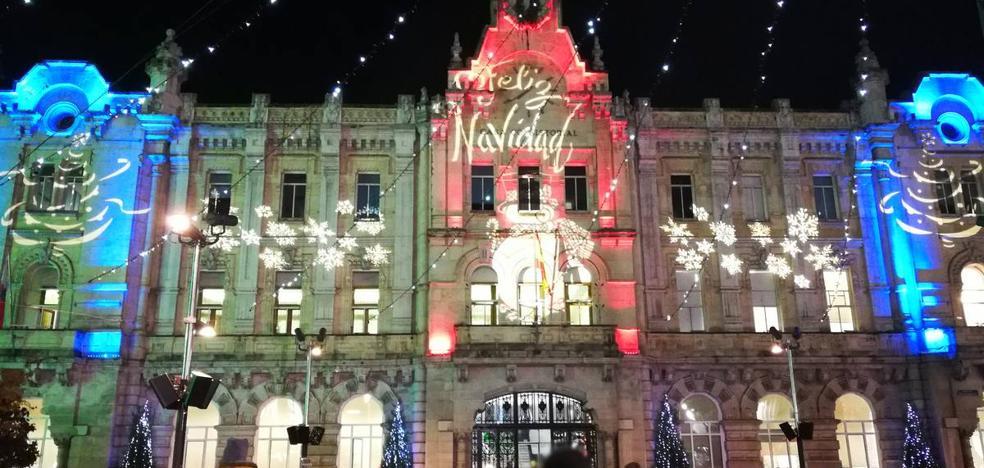 Casi 200 horas de luces navideñas para Santander