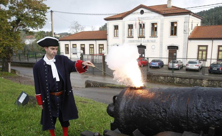 Cañonazo en 'honor' de la historia de la Real Fábrica de Artillería de La Cavada