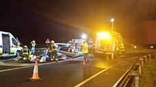 Tres heridos en un accidente en la A-8, a la altura de Colindres