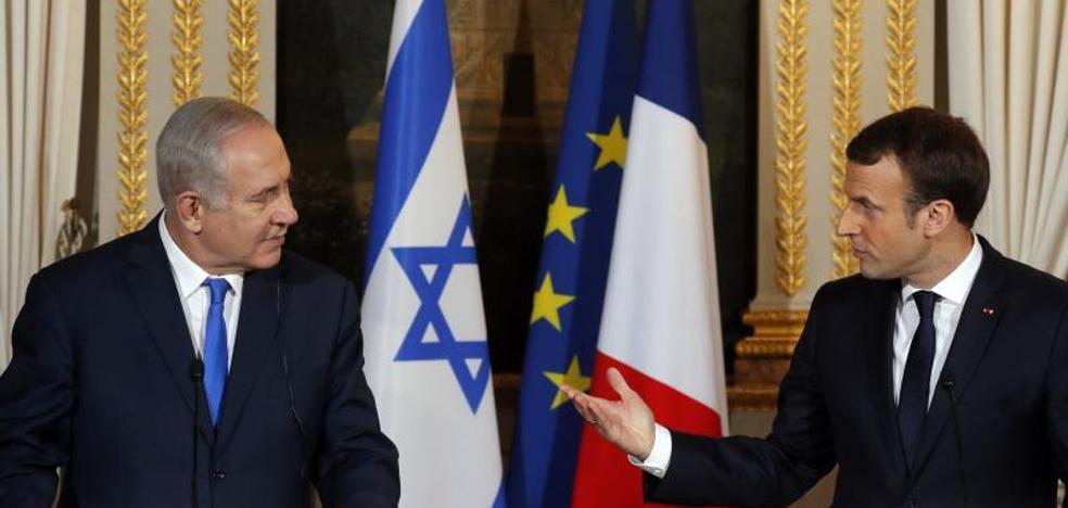 Macron pide a Netanyahu que congele la colonización como gesto para la paz