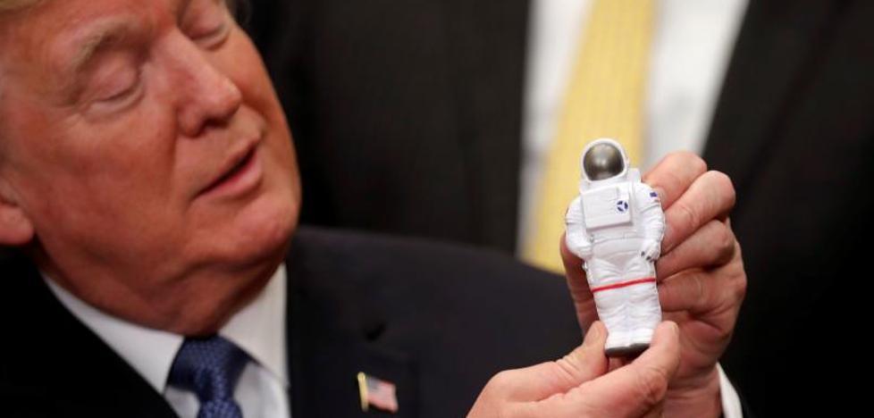 Trump anuncia su intención de volver a enviar astronautas a la Luna