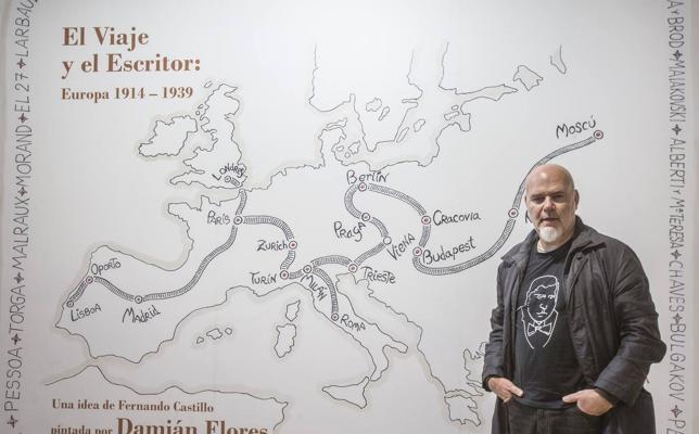 Las pinturas de Damián Flores recorren la literatura y pensamiento europeo de entreguerras
