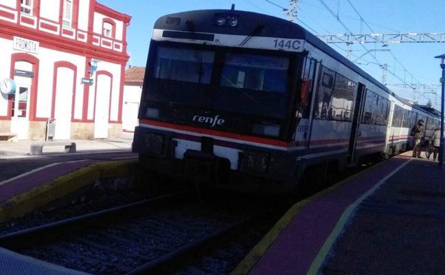 El tren a Valladolid se queda tirado en Frómista por una avería