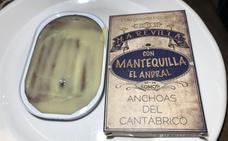 Anchoas de Santoña en mantequilla pasiega