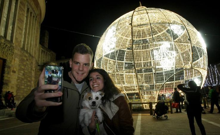 La bola da brillo a Torrelavega